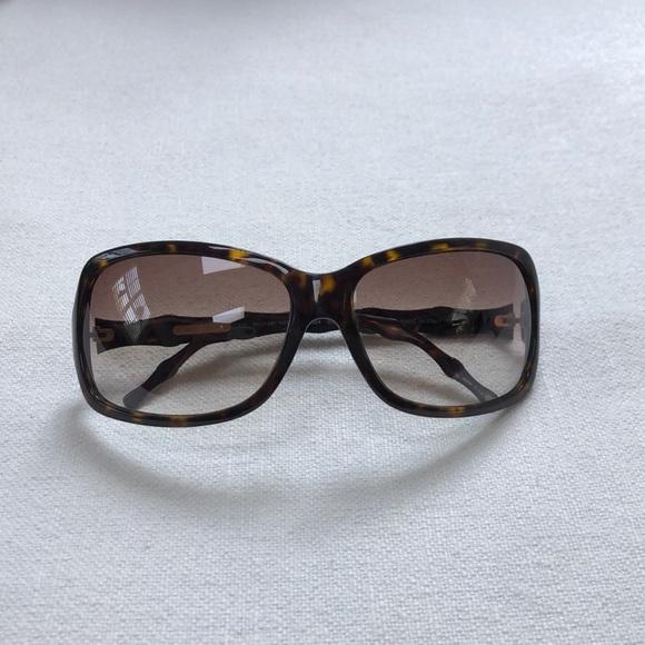 Michael Kors Brown Bamboo Oversized Sunglasses